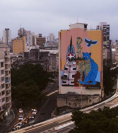 São Paulo ganha mural feito com tinta que ajuda a limpar o ar como 750 árvores