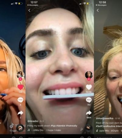 TikTok: desafio de serrar os dentes com lixa de unha desespera dentistas; veja vídeo