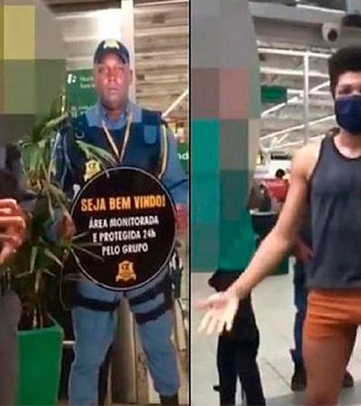 Estudante abaixa short após atitude homofóbica de segurança que o impediu de entrar em mercado
