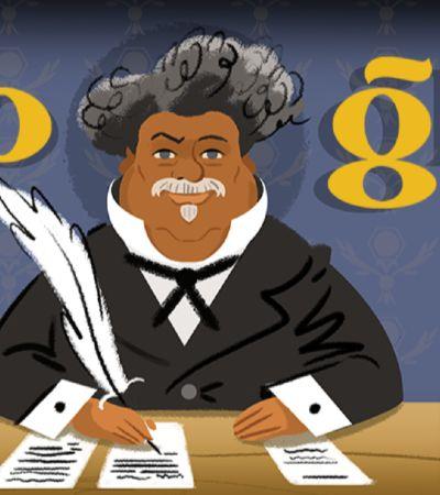 Google celebra Alexandre Dumas e ancestralidade negra do autor de 'Os Três Mosqueteiros