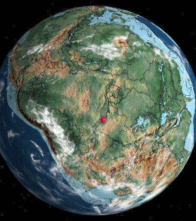 Mapa mostra como cada cidade se moveu com as placas tectônicas nos últimos milhões de anos