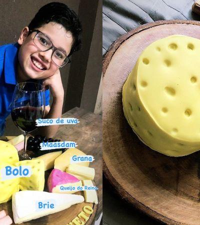 O garoto que fez festa de aniversário com o tema queijos e quebrou a internet
