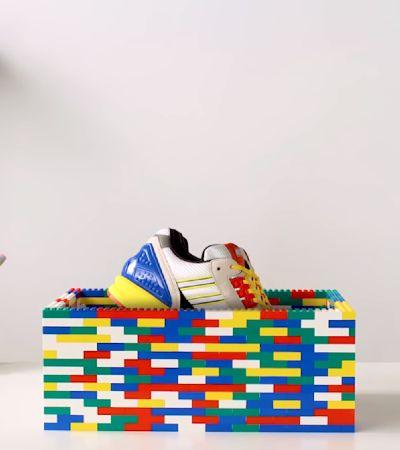Tênis Adidas ZX-8000 é recriado usando apenas peças clássicas de LEGO
