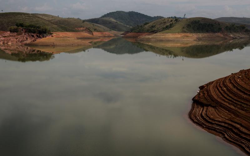 Imagem do Rio Jaguari, em São Paulo