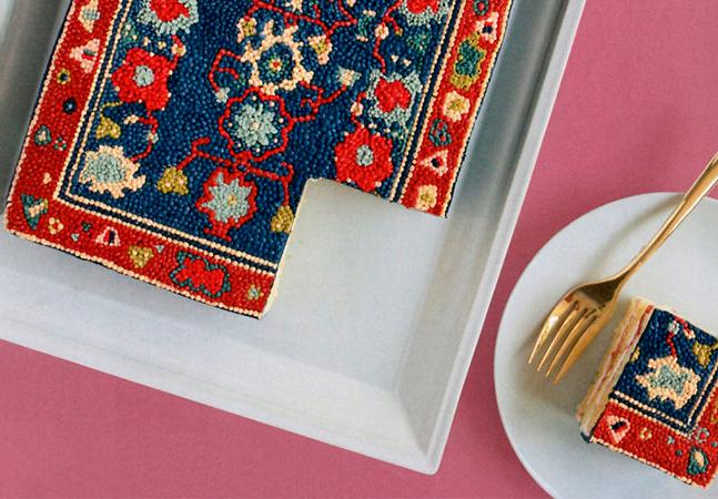 Confeiteira cria bolos que parecem cobertos por tapetes persas