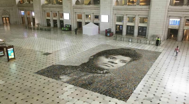Imagem do mosaico feito em homenagem à Ida B. Wells