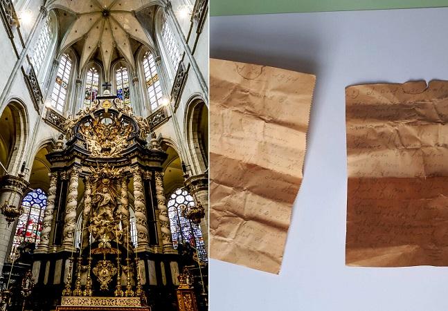 Trabalhador encontra carta secreta de 1941 escondida em teto de igreja