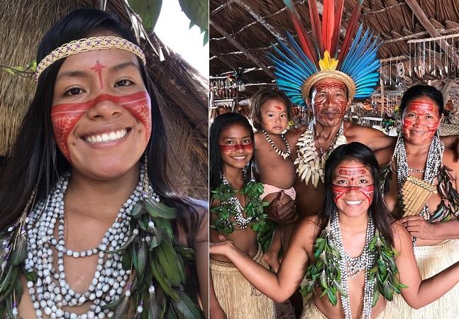 Indígena brasileira conquista milhões de seguidores mostrando dia a dia de comunidade