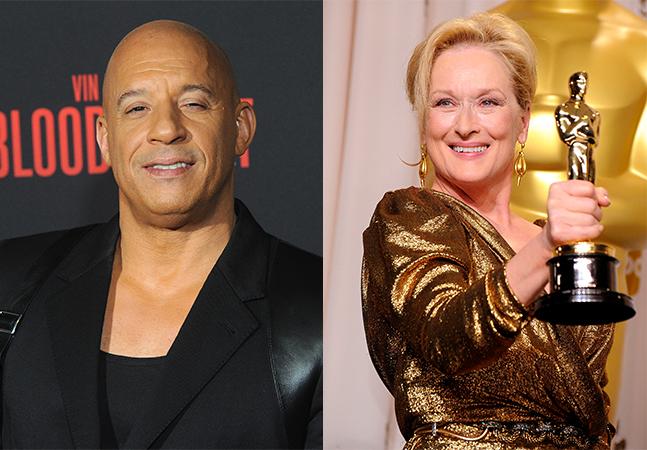 Vin Diesel ganhar o dobro de Meryl Streep escancara o machismo em Hollywood