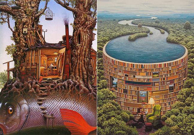 O surrealismo do pintor polonês Jacek Yerka é capaz de confundir nossa cabeça