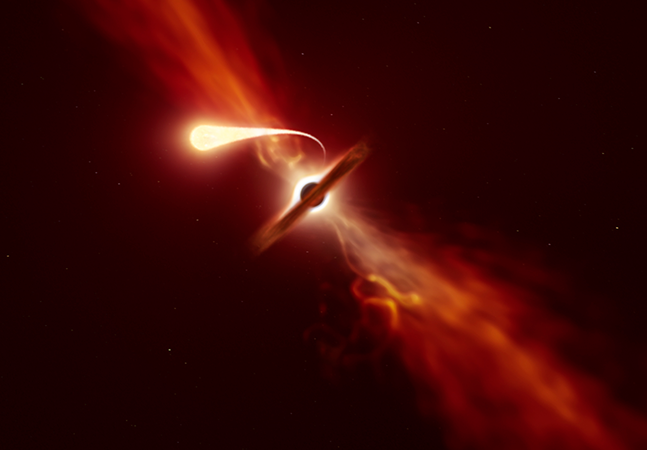 Momento exato em que estrela é engolida por buraco negro é registrado por telescópios
