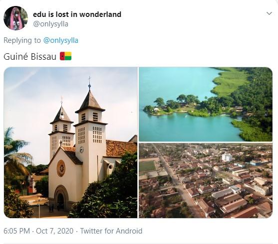 Três imagens: a primeira mostra uma igreja modesta; a segunda mostra uma região banhada pelo mar; a terceira mostra residências mais voltadas para casas e menos prédios