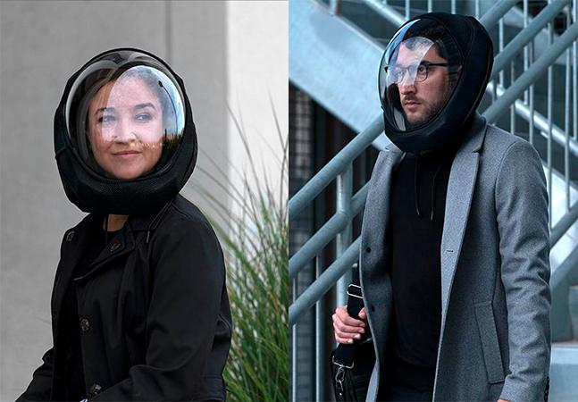 Designer cria capacete com ventilação para proteger da Covid-19