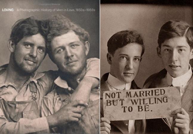 Livro de fotos antigas de casais gays lembra o que a história tenta apagar