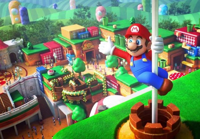 1º parque temático da Nintendo será inaugurado em 2021 com área dedicada a Super Mario
