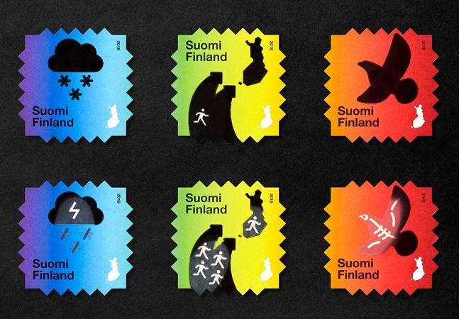 Selos postais alertam para crise climática na Finlândia