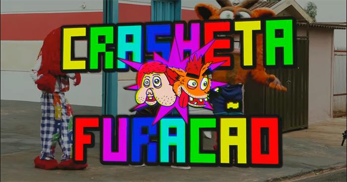 Imagem do crossover entre Crash Bandicoot e Carreta Furacão