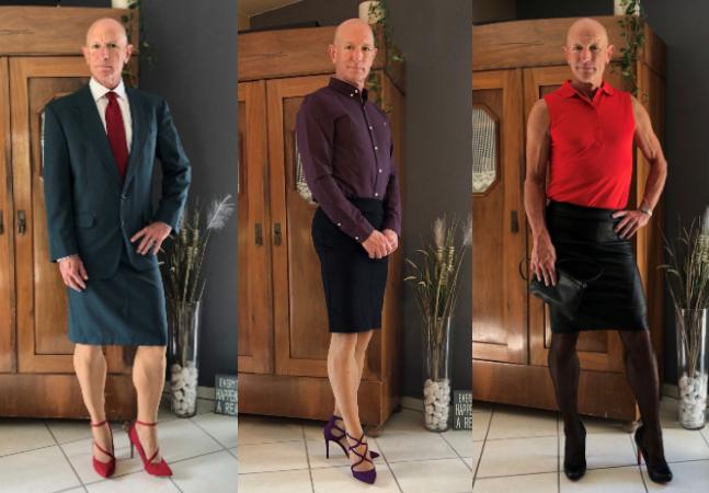 Saias e saltos não são só para mulheres e ele comprova isso com os melhores looks