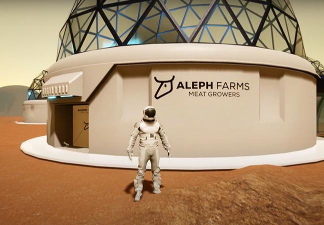 """Fazenda futurista planeja cultivar e servir carne """"impressa"""" no espaço sem ferir animais"""