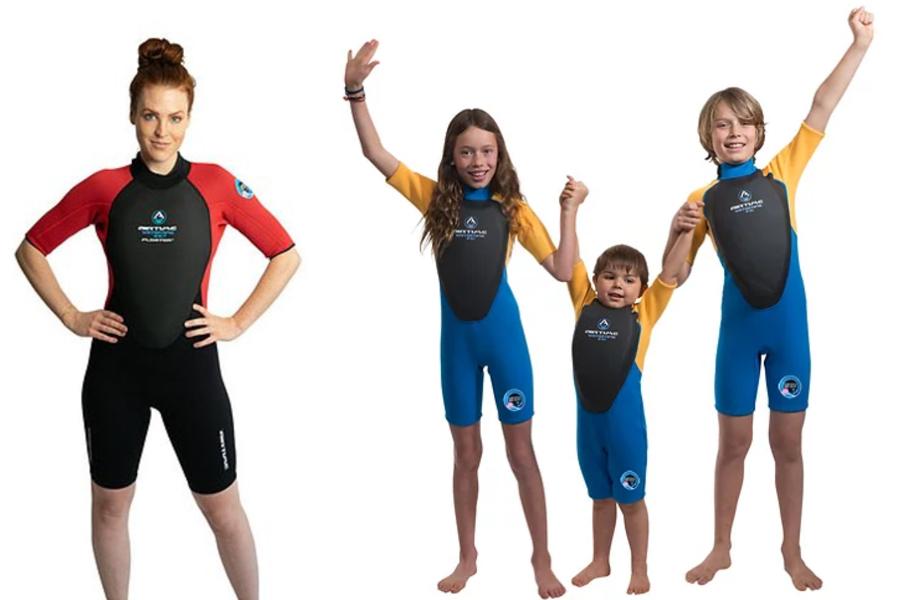 Imagens da roupa de mergulho Floater
