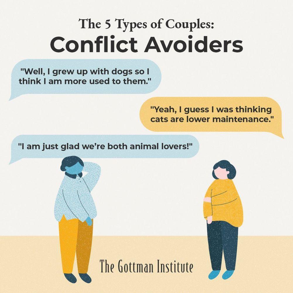 Exemplo de uma conversa entre o Casal Que Evita Conflitos