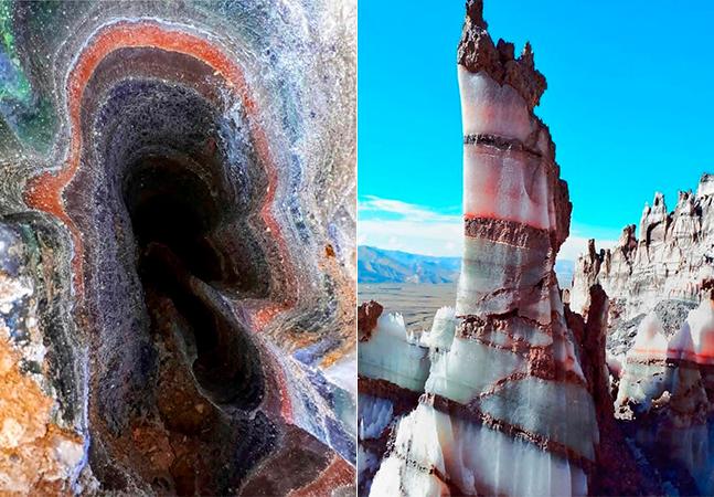 Os incríveis e coloridos domos de sal das montanhas do Irã