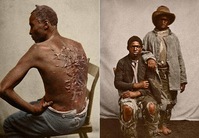 10 fotos de mais de 160 anos foram coloridas para lembrar o horror da escravidão nos EUA