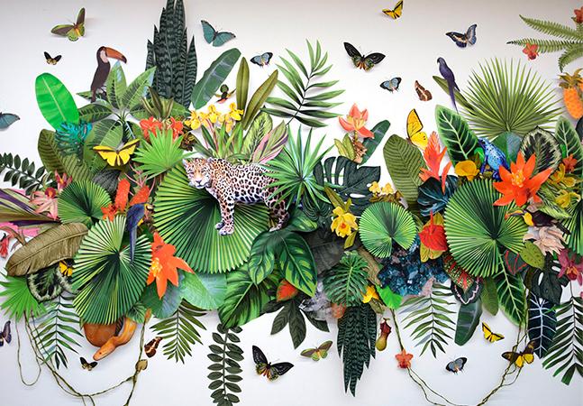 A biodiversidade do planeta – e sua destruição – registradas nas colagens em papel de Clara Celeste Börsch