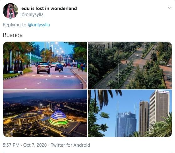 Quatro imagens de centros urbanos mais modernos e um pouco menos tradicionais