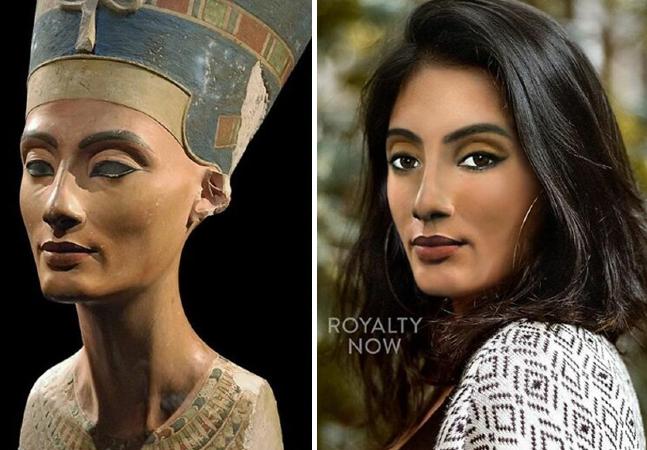 Nefertiti e outros ícones históricos são transformados em cidadãos do século 21