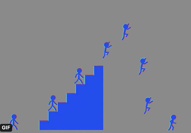 Uma ilusão de ótica faz com que você veja essas figuras paradas em movimento