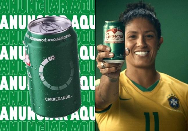 Guaraná Antarctica vai estampar latas com logo das marcas que apoiarem futebol feminino