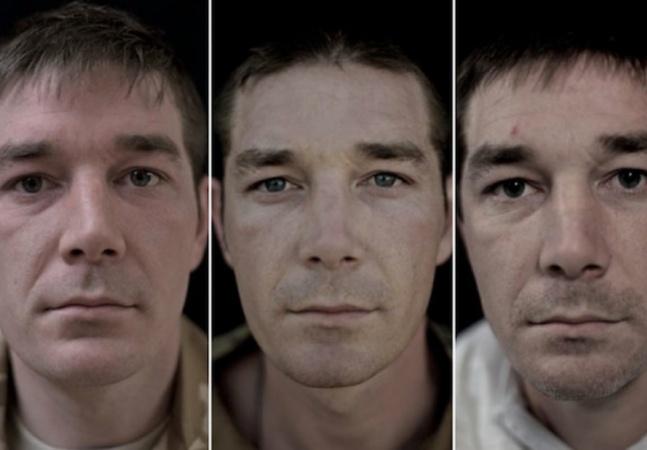 Fotógrafa faz retratos de soldados  antes, durante e depois da guerra