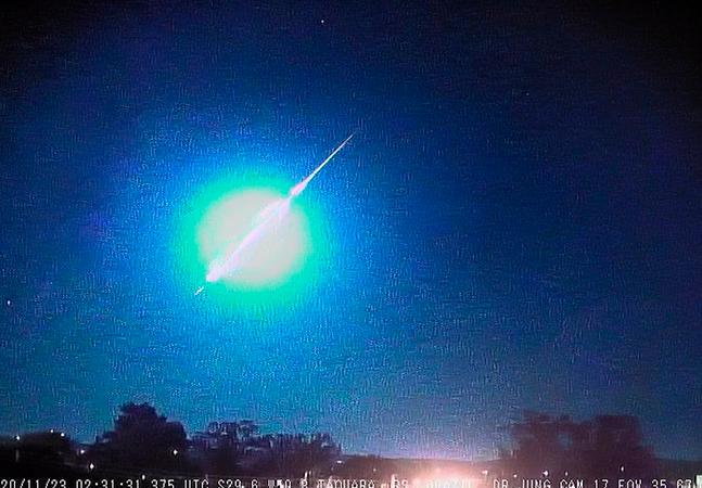 Meteoro explode a 94 km/h na fronteira do Rio Grande do Sul com o Uruguai
