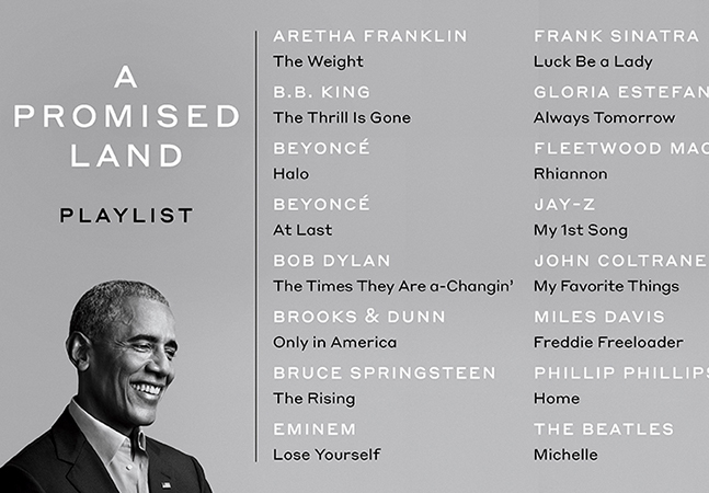 Obama lança livro e playlist com Jay-Z, Aretha Franklin e Beyoncé