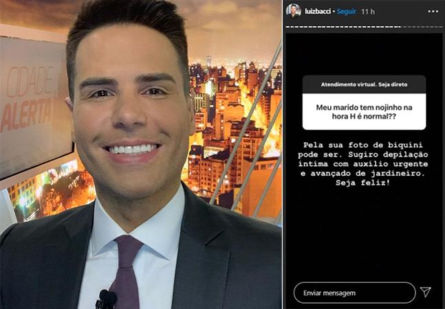 Luiz Bacci sugere que mulher faça depilação íntima 'urgente' e revolta por frase machista