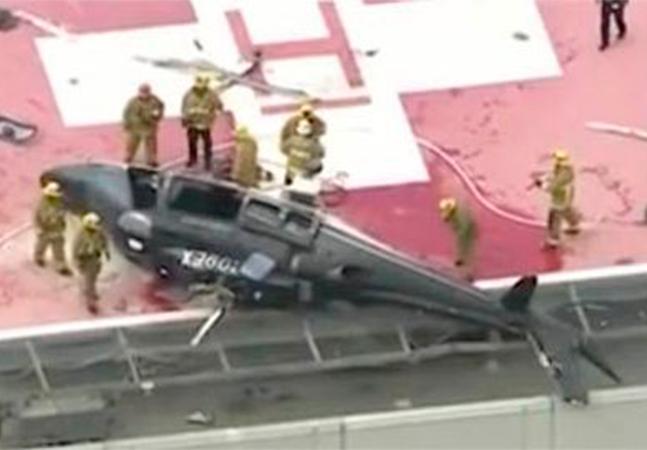 Vídeo mostra queda de helicóptero e médico derrubando coração resgatado