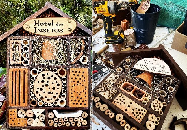 Como um 'hotel de insetos' vai ajudar no crescimento de sua horta