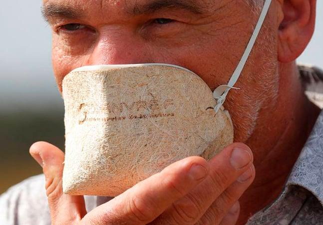 Empresa francesa desenvolve máscara biodegradável 'de maconha' contra covid-19