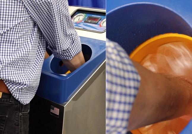 Coronavírus: lavar mãos em estações automáticas é 'novo normal' em meio à pandemia