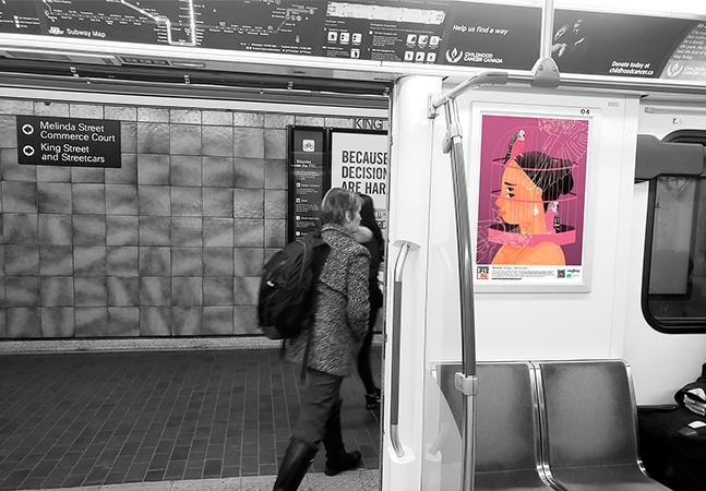 Artistas conscientizam sobre saúde mental com cartazes no metrô de Toronto