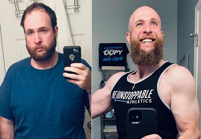Fotos retratam mudanças na aparência de homem que deixou de beber há 4 anos