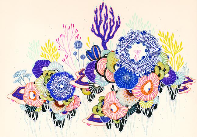 Entre a ficção científica e as formas da natureza, os mundos florais inventados pela artista Yellena James