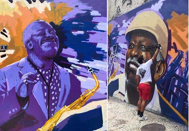 'Negro Muro' exalta Cartola e cultura afro em paredes do Rio de Janeiro