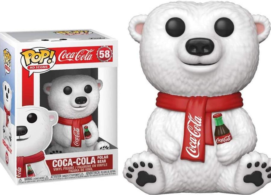 Urso polar da Coca-Cola versão Funko Pop!