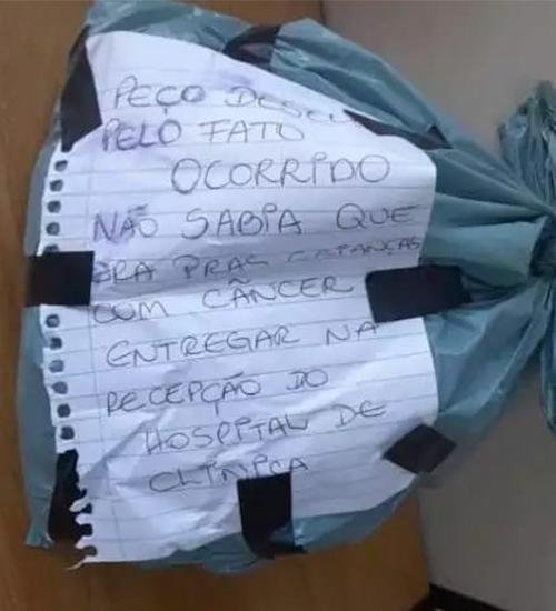 Bandido devolve cabelo doado para crianças com câncer com bilhete: 'Peço desculpas, não sabia'