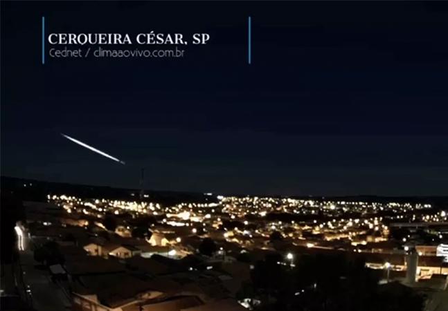 Bola de fogo rasga o céu de São Paulo e do Paraná em espetáculo impressionante