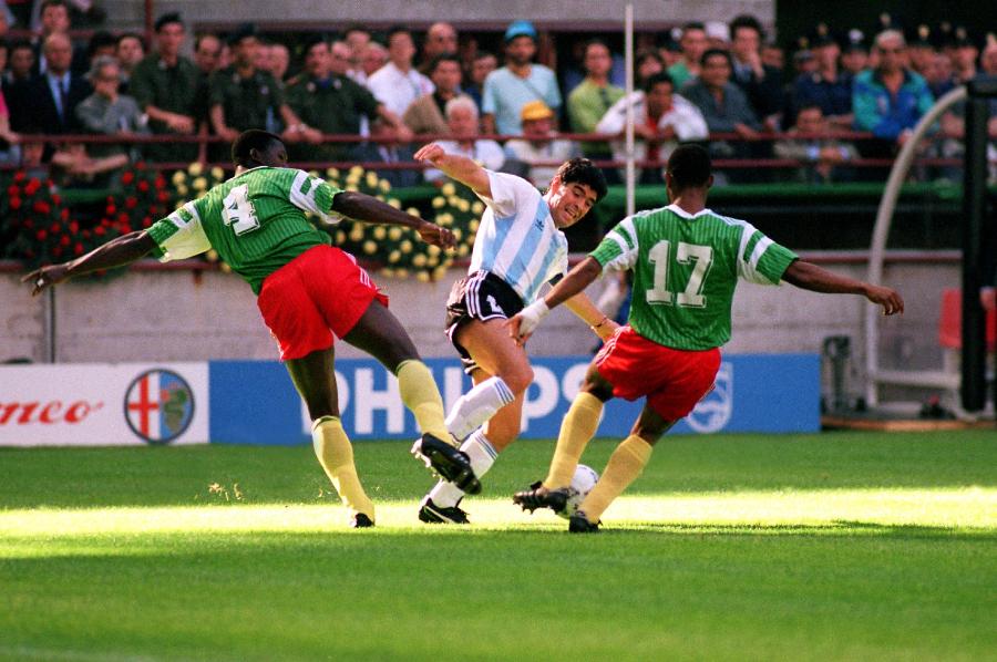 Maradona durante Copa do Mundo de 1990