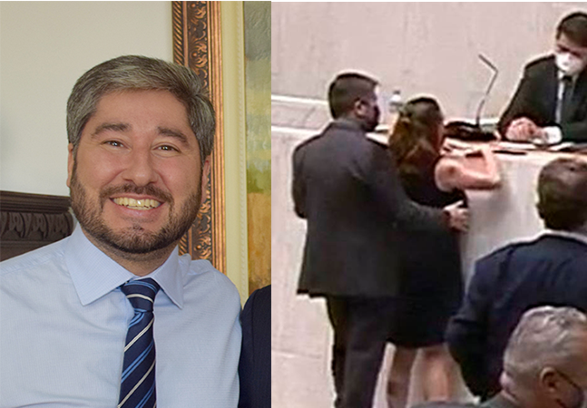 Fernando Cury passa a mão em seio de deputada que pede cassação imediata