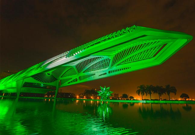 Heineken ilumina o Museu do Amanhã para anunciar energia 100% renovável nas fábricas de Alagoinhas, Araraquara e Ponta Grossa